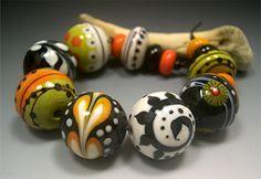 HANDMADE LAMPWORK Glass Beads SET Donna Millard by DonnaMillard, $95.00