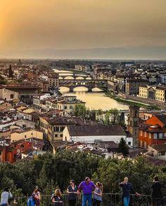 Vista de la ciudad de Florencia, Italia