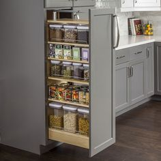 Wood Pantry Cabinet Pullout 11-1/2'' X 22-1/4'' X 47''. PPO2-1148