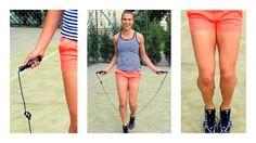 trening cardio na skakance pozwoli schudnąć i wymodelować nogi !
