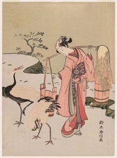 Parody of Lin Heqing (Rinnasei) 見立林和靖 Japanese Edo period (?) about 1767–68…