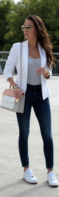 Stylish and Easy Sports Shoe Casual Outfits0361