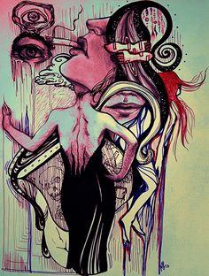 Érase una vez tu espalda que me nació en el escote de un vestido negro para habitar en los despojos de un paraíso. Eran dos tazas de café endulzadas con las líneas de un universo apócrifo. | Texto de Andrés Márquez | Ilustración de Mariana Gallegos