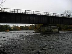 Autumn Scene behind this Old CN Bridge in Foxboro Ontario