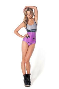 Gamer Purple Swimsuit - LIMITED - sample sale