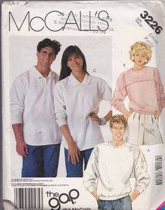 McCall's 3226 Knit Top Pattern Men's and Misses' by tealducktoo