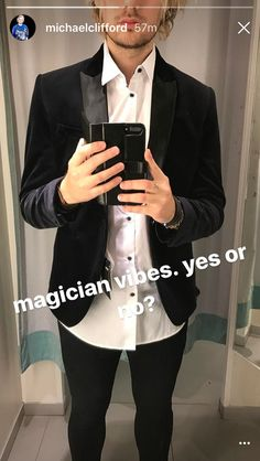 From Michaels Instagram story. But really , Michael you look hot in everything