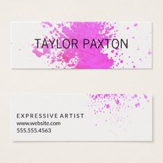 Paint Expressive III Mini Business Card - stylist business cards cyo personalize businesscard diy