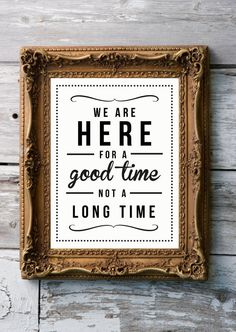 Retro Inspirational Quote Giclee Art Print - Vintage Typography Decor - Customize - Good Time Not Long TimeUK $21.09 #lettering