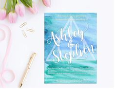 Harry Potter Watercolor Wedding Invitation by HoneydukeDesigns