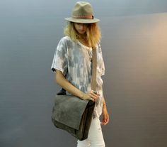 Sale!!! Distressed Leather Messenger Bag Women's leather Laptop bag 15 inch laptop Crosbody Macbook Bag MacBook Air Bag leather by limorgalili. Explore more products on http://limorgalili.etsy.com