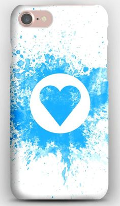 iPhone 7 Case Drawing on wall, Chalk, Blue, White, Heart, Love, Feelings