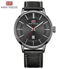 Minifocus 2019 Fashion Mens Watches Top Brand Luxury Dress Quartz Watch Men Ultra Thin Blue Mesh Strap Auto Date Display Clock Quartz Watches Men's Watches