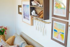 Rustic gallery wall inspiration –Sister Golden Blog | ONCE UPON A COUCH PART I: RUSTIC