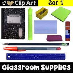 Realistic Photo Clip Art (PNG) - Classroom Supplies - Set 1