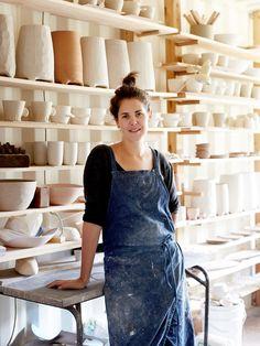 Bridget Bodenham in her Daylesford studio. Photo – Sean Fennessy.