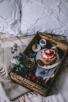 Goat Cheese & Mascarpone Vanilla Bean Pancakes with Strawberry Rhubarb Syrup + A New Seasons Giveaway ( breakfast in bed) Rhubarb Syrup, Rhubarb Sauce, Breakfast In Bed, Recipe Of The Day, Food Styling, Food Inspiration, Waffles, Fruit Pancakes, Fluffy Pancakes