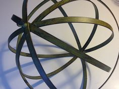 Green Metal Orb 12 inches in diameter by PetalandForrest on Etsy, $25.00