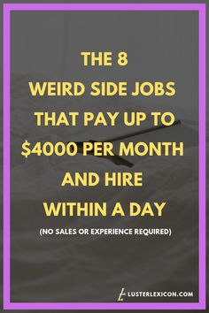 8 Easy Side Jobs that are flexible & require no experience - Luster Lexicon Ways To Earn Money, Earn Money From Home, Earn Money Online, Online Jobs, Money Saving Tips, Way To Make Money, Making Money From Home, Work From Home Careers, Legit Work From Home