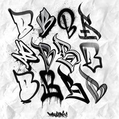 Graffiti Piece, Best Graffiti, Graffiti Art, Graffiti Doodles, Graffiti Alphabet, Alphabet Fonts, Tattoo Lettering Styles, Graffiti Lettering Fonts, Letter Art