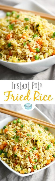 You won't believe how easy this Instant Pot Fried Rice is to prepare! It's the perfect side dish or quick meal any night of the week! via (slow cooker rice recipes vegetarian) ♛BOUTIQUE CHIC♛ Instant Pot Pressure Cooker, Pressure Cooker Recipes, Pressure Cooking, Pressure Cooker Rice, Pressure Pot, Crockpot Recipes, Cooking Recipes, Healthy Recipes, Rice Recipes