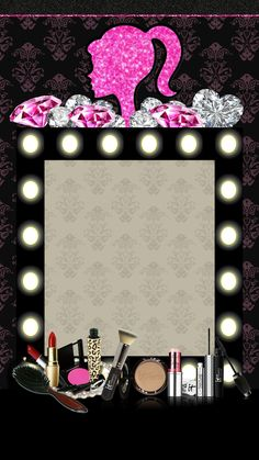 Makeup Backgrounds, Makeup Wallpapers, Pretty Wallpapers, Wallpaper Backgrounds, Iphone Wallpaper, Farmasi Cosmetics, Eyebrow Embroidery, Makeup Illustration, 2 Clipart