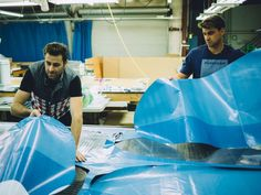 Rareform co-founders Alec Avedissian, left, and brother Aric upcycle non-recyclable vinyl advertising billboards into bags of all sorts. Social Business, Vinyl Banners, Vinyl Fabric, Billboard, West Coast, Upcycle, Vinyls, Stylish, Cycling