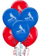 St. Louis Cardinals Latex Balloons 12in 6ct - Party City $2.49 for 6