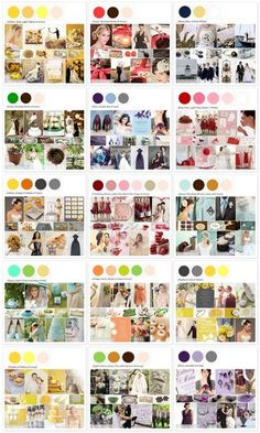 Wedding Color Palettes #Wedding #ColorPallets #ColorScheme #Planning #Inspiration #Colors #2016 #Trending #Season