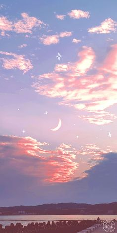 Moon And Stars Wallpaper, Stars And Moon, Free Iphone Wallpaper, Mink Eyelashes, Wallpaper Quotes, Airplane View, Clouds, Outdoor, Wallpapers