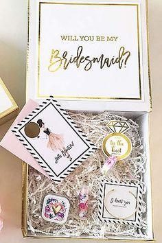 Bridesmaid Gifts From Bride Proposal Box Davids Bridal