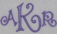 Curlz Fonts   Apex Embroidery Designs, Monogram Fonts & Alphabets