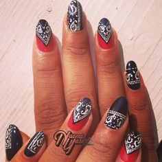 Bandana #nails #Dope .@naominailsnyc |