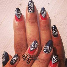 Bandana #nails #Dope .@naominailsnyc  