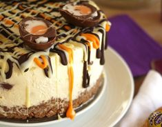 A showstopping Creme Egg cheesecake to make for a delicious Easter dessert