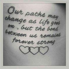 A sister's tattoo Sibling Tattoos, Bff Tattoos, Maori Tattoos, Best Friend Tattoos, Family Tattoos, Trendy Tattoos, Future Tattoos, Love Tattoos, Beautiful Tattoos