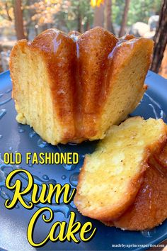 You won't want to hide the rum this time. Grab your bundt pan, a box of yellow cake mix, and a bottle of spiced rum and get ready to party like a pirate because this rum soaked cake is going to be your new go to dessert! Rum Cake Recipe Easy, Cake Mix Recipes, Pound Cake Recipes, Baking Recipes, Dessert Recipes, Rum Cake Glaze Recipe, Dessert Ideas, Just Desserts, Delicious Desserts