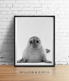 BABY SEAL Printable Art Nursery Animal by WillowandBirchPrints