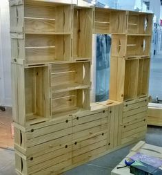 Lovely Pallet Wooden Hutch