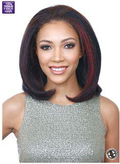 Bobbi Boss Trendi Wig - Aurora - Class: Half Wig - Material: Premium Innovative Wig - Color Shown: F1B/BUG http://bobbiboss.com/v3/w/careguide/