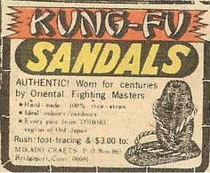 Kung fu sandals The comic book ad for Giant Electric Doll House! Description from pinterest.com. I searched for this on bing.com/images