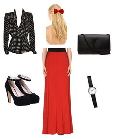 """Pentecostal Outfit"" by daisnalopez on Polyvore featuring Givenchy, Paola Frani, Yves Saint Laurent and Pluie"