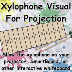 Xylophone Visual for SmartBoard. Great way to demonstrate and practice with students before they go to the instruments. Demonstrate which bars to remove, highlight the notes they are playing, and give them a visual big enough for whole class instruction. Must have for Orff teachers!