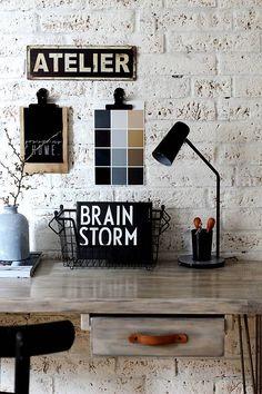 Nábytok - Pracovný stôl INDUSTRY BROWN so šuflíkmi - 6539283_