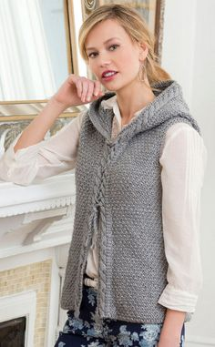 Country Nights Cabled Vest - free pattern
