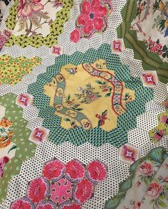 Sneak peek of a raffle quilt #moretocome #getready #quiltsinthrshearingshed #brigittegiblinquilts #patchwork #quilts #epp #englishpaperpiecing