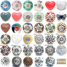 Brighten up your cupboards and drawers with these stylish knobs. There might also be slight imperfections. The bolt length on the knobs will, at least, allow fitting to furniture thick. Knobs And Handles, Drawer Handles, Drawer Pulls, Shabby Chic Drawer Knobs, Dresser Drawer Knobs, Shabby Chic Homes, Shabby Chic Style, Cupboard Door Knobs, Ceramic Door Knobs