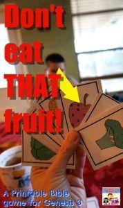 Fall of Man card game, Bible game for Sunday School #kidmin #SundaySchool