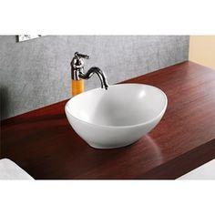 Elanti Elanti Porcelain White Vessel Oval 16 x 13 Inch Deep Bowl Sink White Vessel Sink, Steam Showers Bathroom, Bathrooms, Bathroom Sinks, Bathroom Renovations, Bathroom Ideas, Vessel Faucets, Bowl Sink, Downstairs Bathroom