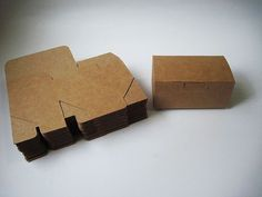 "10pcs - LOVE these!!!!350gram Mini Rectangle Kraft paper Box - 3.72""(L) x 1.6""(W) x 1.8""(H)"